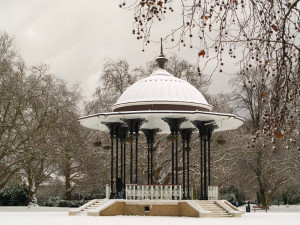 Bandstand in the Snow - thumb