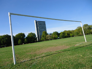Goalposts in Southwark Park - thumb