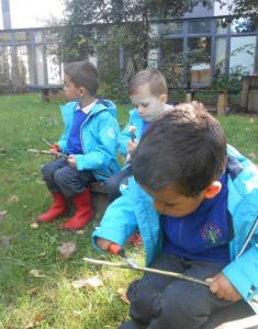 forest school whittling sticks - thumb