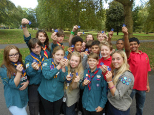 Scouts in Southwark Park - thumb