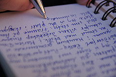 diary writing by Fredrik Rubensson CC Flickr