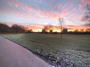 Winter sunet over Southwark Park - thumb