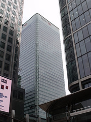The 42 storey HSBC Tower in Canary Wharf