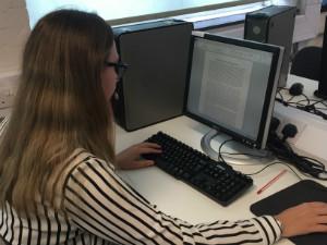 Morgan at her computer - thumb