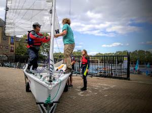 Preparing to sail - thumb