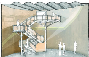 Staircase and roof - illustration - thumb