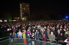 The Fireworks crowd at Southwark Park