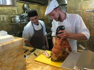 Carving Parma Ham - thumb