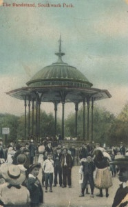 Southwark Park The Bandstand Edwardian era - thumb