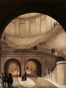 'Entrance to the Thames Tunnel at Wapping London' (1836) Anonymous ©BrunelMuseum - thumb