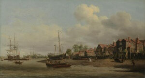 A Morning with a View of Cuckold's Point by Samuel Scott 1750-60