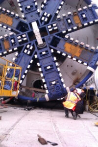 Looking up at Crossrail Tunnel Boring Machine by Annie Mole CC Flickr - thumb