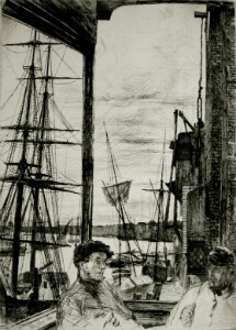 Rotherhithe by Whistler 1860 - thumb